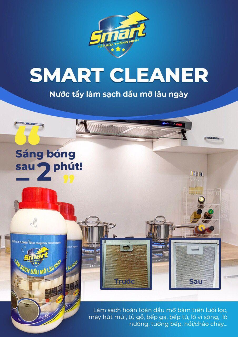 CHẤT TẨY DẦU MỠ BÁM LÂU NGÀY SMART CLEANER
